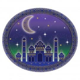 8 Platos Aladdin Oval 30 cm