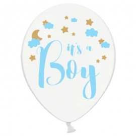 6 Globos de It's a Boy 30 cm