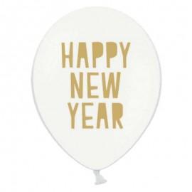 6 Globos Happy New Year 30 cm