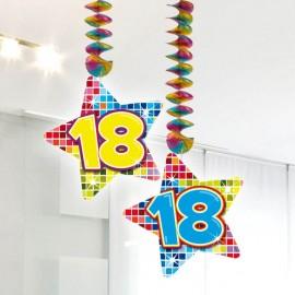 2 Colgantes 18 forma Estrella Multicolor