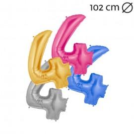 Globo Número 4 Foil 100 cm