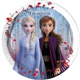 8 Platos Frozen 2 de Papel 20 cm