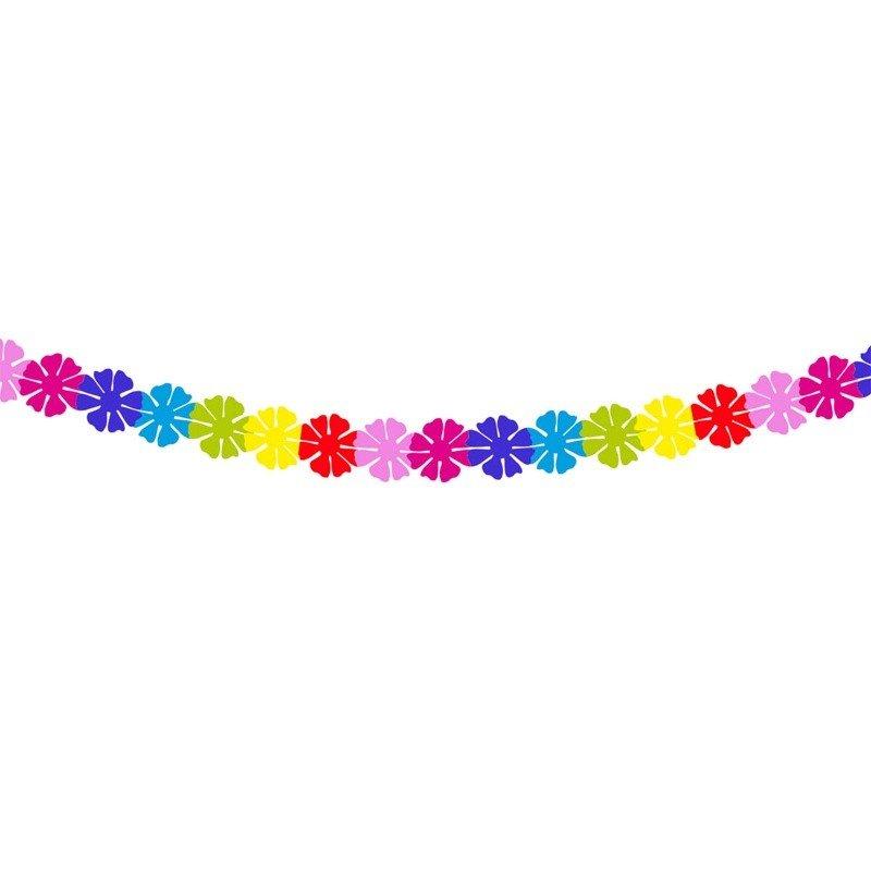 Guirnalda flores multicolor 2 metros for Guirnaldas para fiestas infantiles