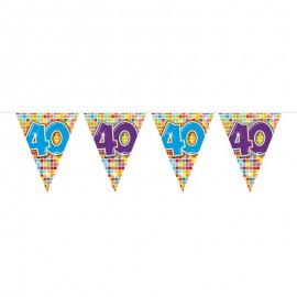 Banderines 40 con Cuadrados de Colores 3 m