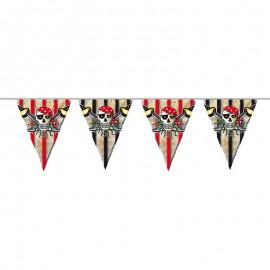 Banderines Calaveras Pirata 6 metros