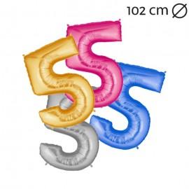 Globo Número 5 Foil 100 cm