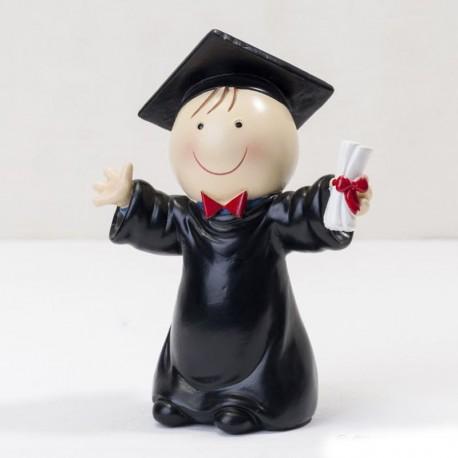 Figura Chico para Tartas de Graduación