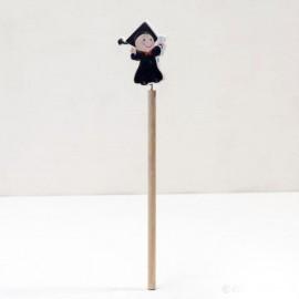 6 Lápices Madera Chico Graduado 24cm