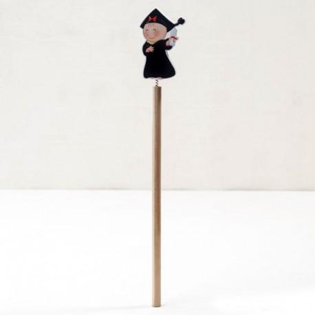 6 Lápices Madera Chica Graduado 24cm