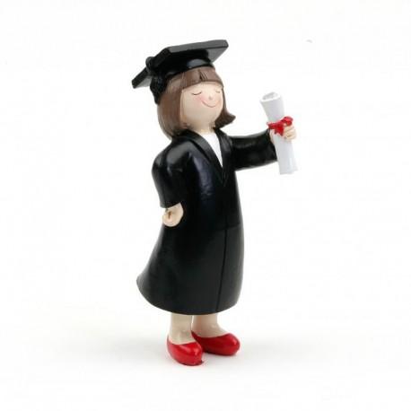 Figura para Tartas para Graduación Chica
