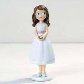 Figura Niña con Vestido Corto 16,5 cm