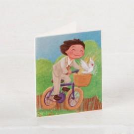 100 Tarjetas Librito Niño en Bici