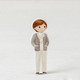 Figura Niño Foulard 2D Adhesiva 5,5 cm (10 uds)