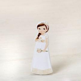 Figura Niña Romantica 2D Adhesiva 5,5 cm (10 uds)