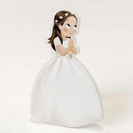 Figura Niña con Corona 2D Adhesiva 11 cm (6 uds)