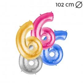 Globo Número 6 Foil 100 cm