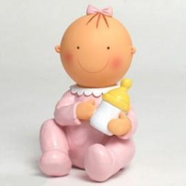 Figura para Tartas y Hucha Bebé Sentado y Biberón