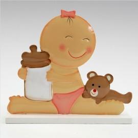 Figura para Tartas Bebé con Biberón 15 cm