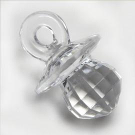 144 Chupetes Transparente 2,7 cm