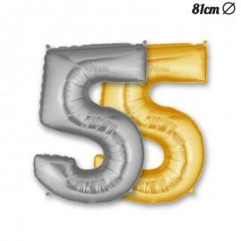 Globo Numero 5 Foil 86 cm