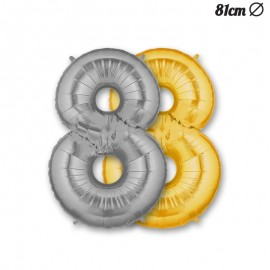 Globo Numero 8 Foil 86 cm