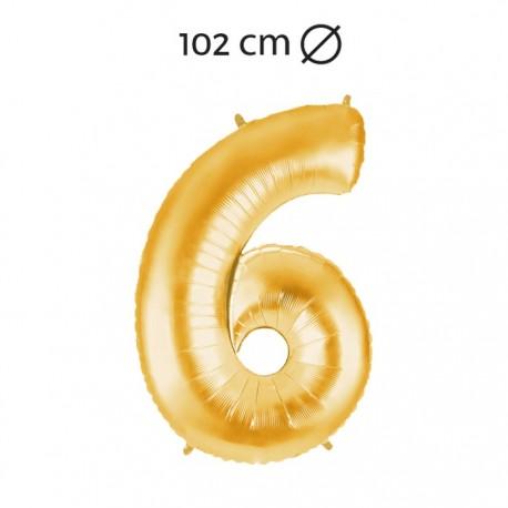Globo Número 6 Foil 102 cm
