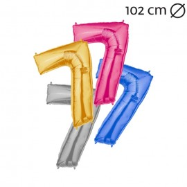 Globo Número 7 Foil 100 cm