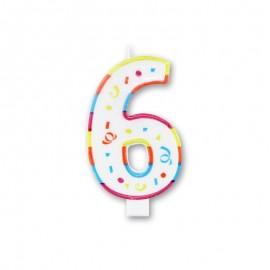 Vela Grande con Colorines Número 6