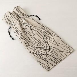 6 Bolsas de Algodón con Líneas Negras 15x35 cm