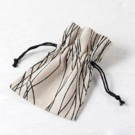 24 Bolsas de Algodón con Líneas 10x13 cm