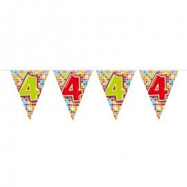 Banderín de Colorines con Número 4