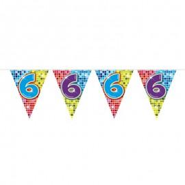 Banderín de Colorines con Número 6
