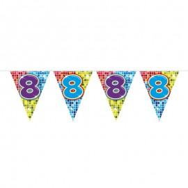 Banderín de Colorines con Número 8