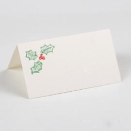 24 Tarjetas Navideñas Muérdago 8x4,5 cm