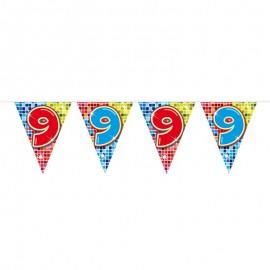 Banderín de Colorines con Número 9
