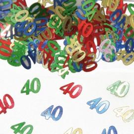 Confeti Numero 40 Multicolor