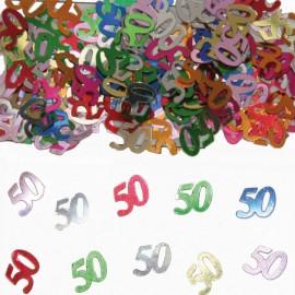Confeti Numero 50 Multicolor
