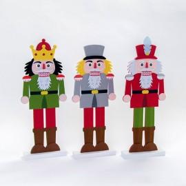 3 Figuras de Fieltro Soldados 44 cm