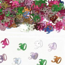 Confeti Número 30 Multicolor