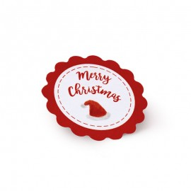 5 Etiquetas Adhesivas Merry Christmas Ondas