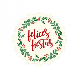 5 Etiquetas Adhesivas Ondas Felices Fiestas Orla