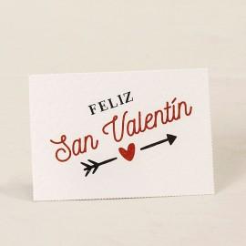 5 Tarjetas Precortadas Feliz San Valentín 5 x 3,5 cm