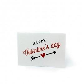 5 Tarjetas Precortadas Happy Valentines 5 x 3,5 cm
