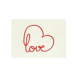 5 Tarjetas Precortadas Love 5x3,5 cm
