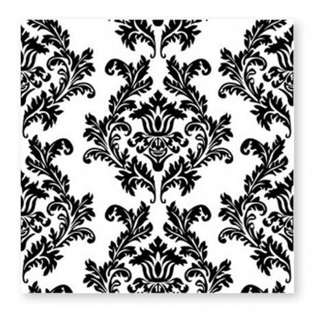 20 Servilletas fondo Blanco Overprint 33 cm