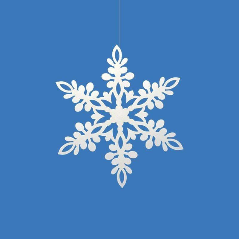 Copos de nieve forma estrella 11 cm for Estrella de nieve