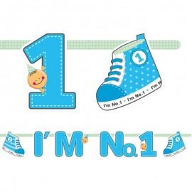 Banderín I'm Nº1 Niño 16 x 110 cm