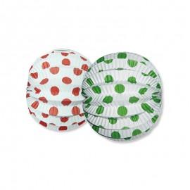 Farolillo Redondo con Lunares de Colores 22 cm