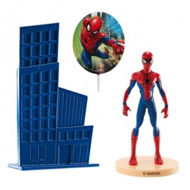 Kit Con Pinchos Spiderman Para Tartas
