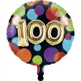 Globo 100 Años Foil 45 cm Lunares